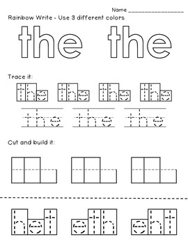 This is America- A Predictable Sight Word Reader with Word Work