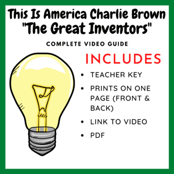 This is American Charlie Brown: The Great Inventors (Video Guide)