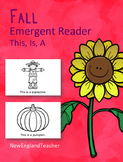 This is Fall Printable Emergent Reader Book for Young Readers