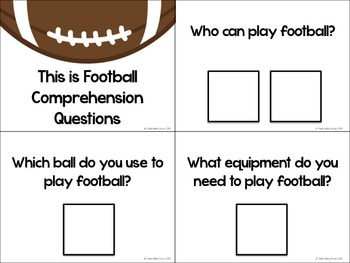 This is Football - Adapted Book and Comprehension Materials
