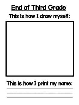 This is How I Draw Myself, Print My Name, and Write: Portfolio Pages