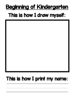 This is How I Draw Myself, Print My Name, and Write: Portf