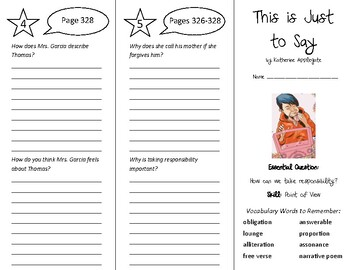 This is Just to Say Trifold - Wonders 6th Grade Unit 4 Week 5