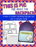 Back to School Project -- All About Me