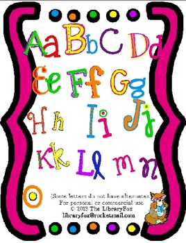This is NoT a Font- Cute and Bright Multicolored Alphabet for Titles