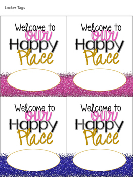 This is Our Happy Place Classroom Theme