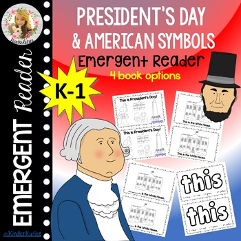 President's Day and American Symbols Emergent Reader