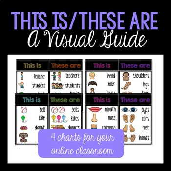This is/These Are: A Visual Guide (VIPKID/ESL/ELL/ELA)