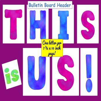 This is US!  Icebreaker and Bulletin Board!