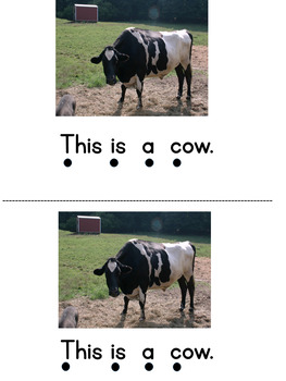 This is a Farm Animal - Sight Word Reader - Level A