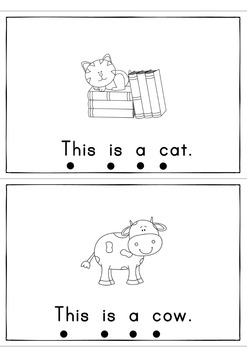 This is a Cat  Easy Reader Patterned Sentences for Beginners