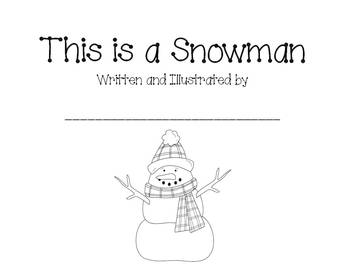 This is a Snowman (writing booklet)