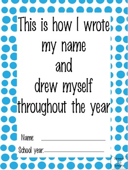 """""""This is how I…"""" Name writing & Self Portrait skills through the year"""