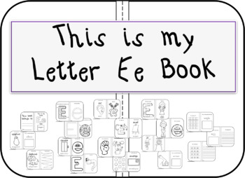 This is my Letter Ee Book