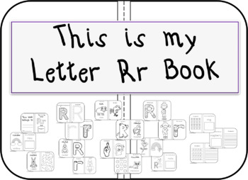 This is my Letter Rr Book