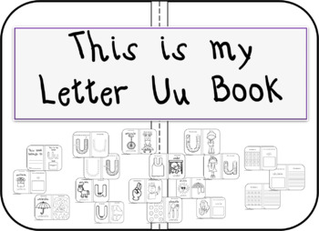 This is my Letter Uu Book