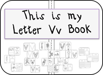 This is my Letter Vv Book