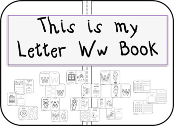 This is my Letter Ww Book