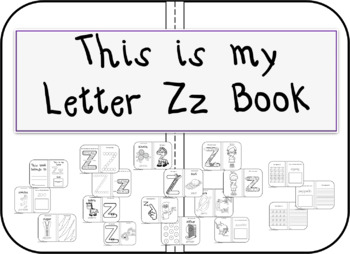 This is my Letter Zz Book