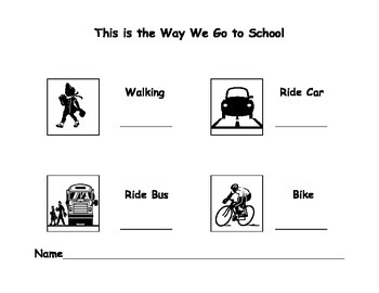 This is the Way We Go to School - Transportation Tally Chart