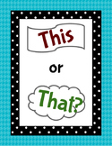 This or That? A Language Activity for ELLs