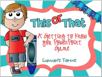 This or That getting to know you editable PowerPoint game