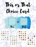 This or That Choice Card