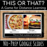 This or That Digital Game on Google Slides