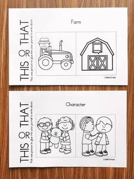 Fall Writing - This or That Fall Writing Prompts