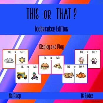 Back to School Icebreaker with Pictures for Young Learners - PowerPoint Activity