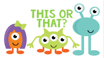 This or That Morning Meeting Game EDITABLE