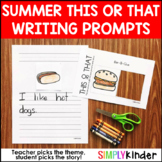 Summer Writing, Writing Prompts, Summer Printables, Summer