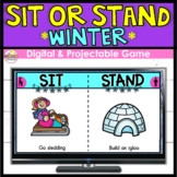 This or That WINTER   Sit or Stand   Distance Learning Game