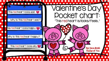 This red heart feels.... (Pocket Chart reading)