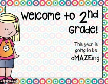 This year is going to be aMAZEing!  Welcome back gift for your new kiddos!