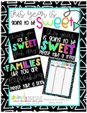 This year is going to be sweet gift tags and printable sig