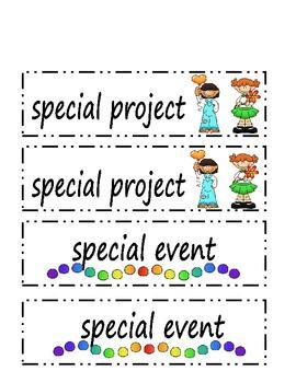 ThistleGirl set of Schedule Cards