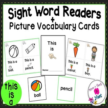 Sight Word Emergent Reader- Book & Vocabulary Cards: This