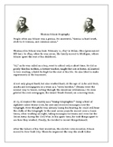 Thomas Alva Edison Biography with Reading Comprehension Questions