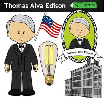 Thomas Alva Edison clipart - inventors Clip Art