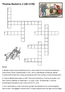 Thomas Becket Crossword