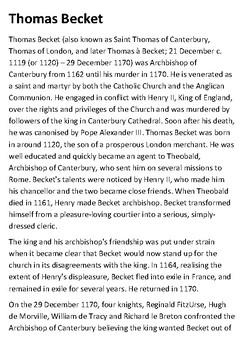 Thomas Becket Handout