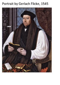 Thomas Cranmer Word Search