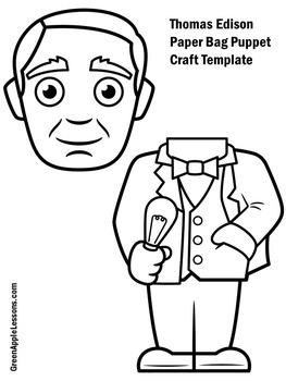 Thomas Edison Activity | Thomas Edison Craft | Thomas Edison Inventor