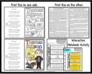Thomas Edison: Biography Reading Passage: Famous Inventor