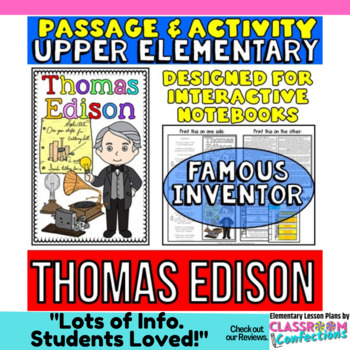 Thomas Edison: Biography Reading Passage: Famous Inventor