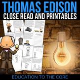 Thomas Edison Reading Passage and Activities