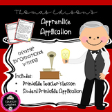 Thomas Edison Apprentice Application