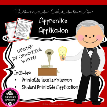 Thomas Edison Apprentice Application