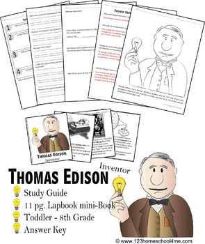 Thomas Edison Biography Report (K-8th)
